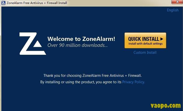 ZoneAlarm免费互联网安全套装