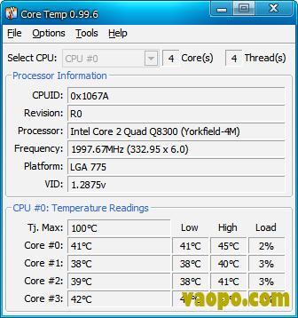 CPU温度测量软件