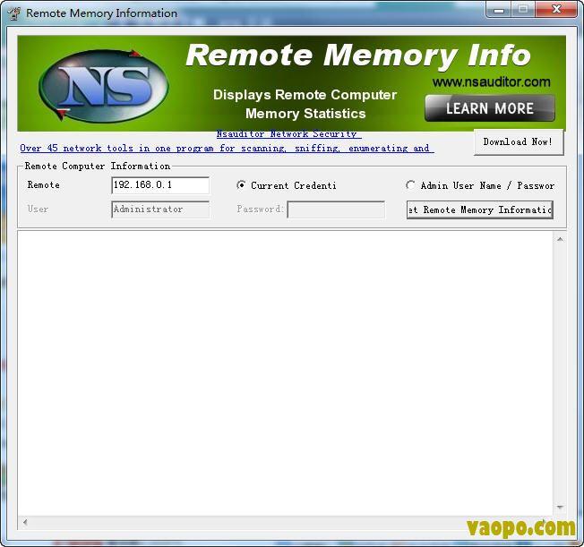 Remote Memory Info远程内存监控工具 V1.29 免费版下载