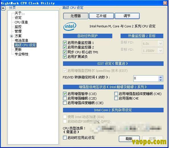 CPU自动降频软件-RMClock(cpu降频工具) 2.5 中文版下载