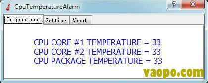 CPU温度监控软件(CpuTemperatureAlarm) v1.0 绿色版下载