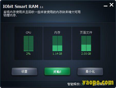 内存释放工具(IObit Smat RAM) V2.1绿色版下载