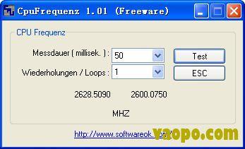 cpu频率查看(CpuFrequenz) V1.02绿色免费版下载