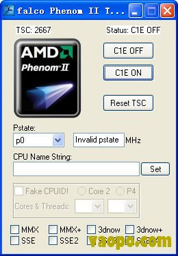 Phenom II Tweaker(CPU信息编辑) 1.1下载