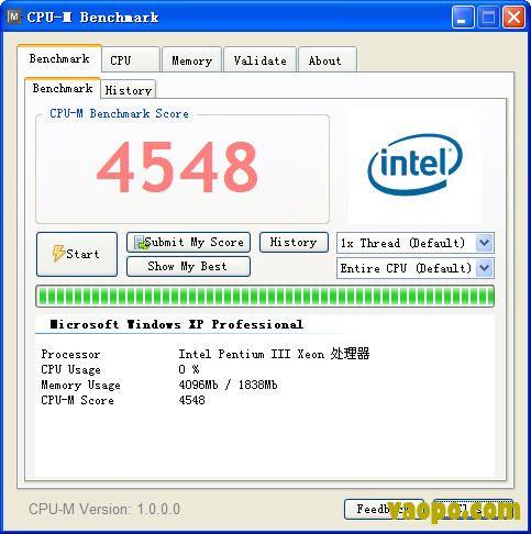 CPU打分和信息查看软件-CPU打分软件(CPU-M Benchmark) v1.4 官方版下载
