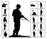 战争中的士兵图像剪影PS笔刷素材下载|战争中的士兵图像剪影PS笔刷下载