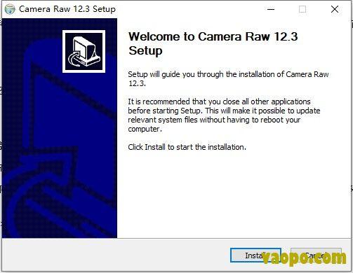 camera raw安装说明图1