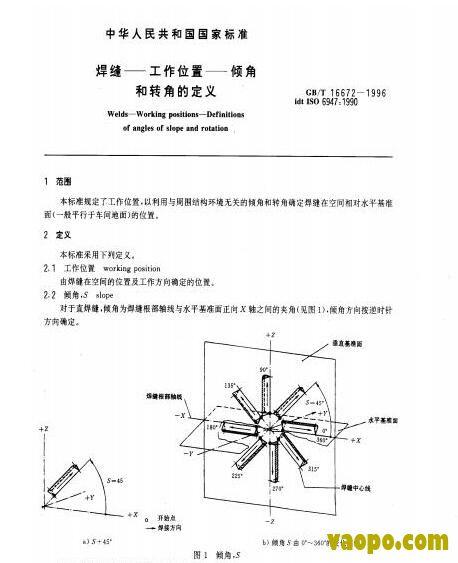 GB/T16672-1996图集下载|GB/T16672-1996 焊缝-工作位置-倾角和转角的定义图集下载