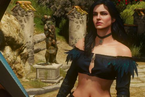 巫师3狂猎叶奈法轻薄服装MOD下载预览图