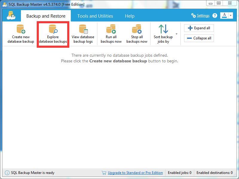 SQL Backup Master使用方法8