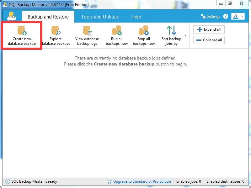 SQL Backup Master使用方法7
