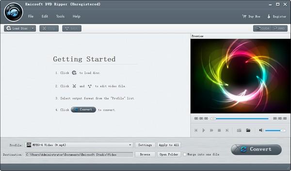 Emicsoft DVD Ripper下载截图1