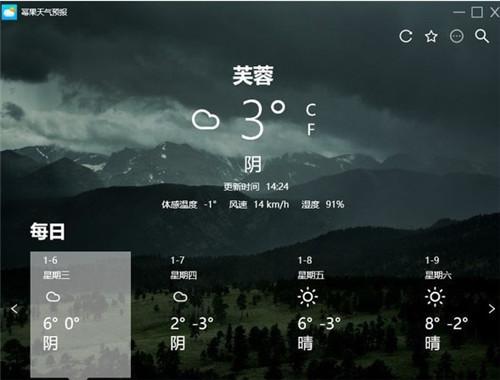 幂果天气预报基本介绍