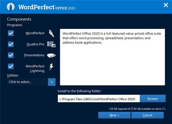 WordPerfect Office Standard安装破解教程4