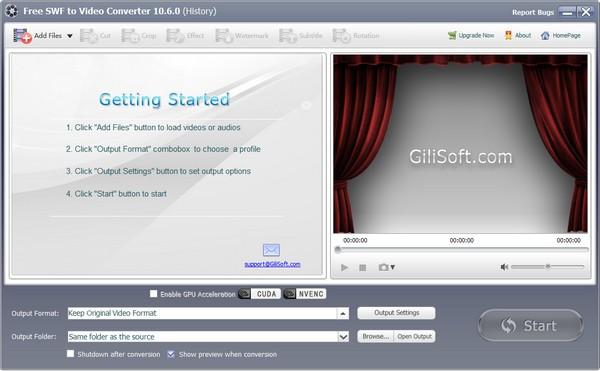 Free SWF to Video Converter下载截图1