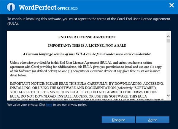 WordPerfect Office Standard安装破解教程2