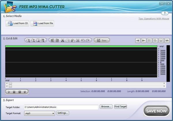 Free MP3 WMA Cutter下载截图1