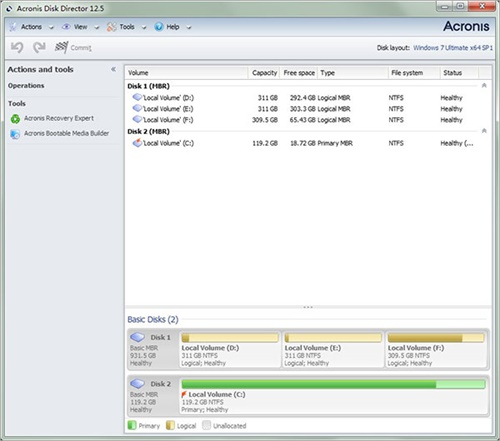 Acronis Disk Director suite12