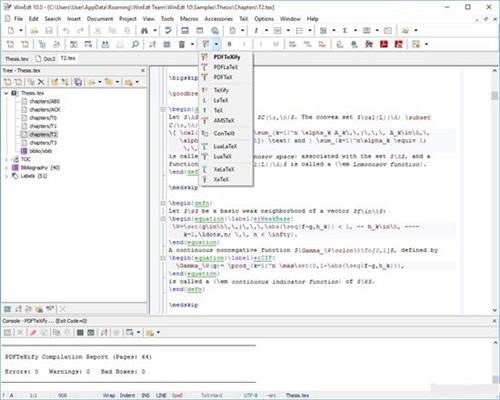 WinEdt10.3破解版基本介绍