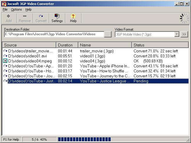 Jocsoft 3GP Video Converter