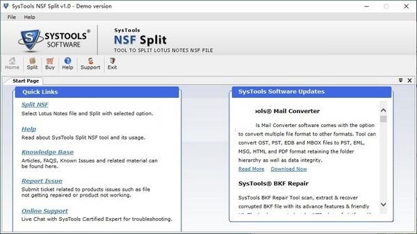 SysTools NSF Split下载截图1