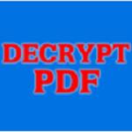 Free Decrypt PDF破解版下载-Free Decrypt PDF(pdf文件解密工具) V1.0 中文破解版下载